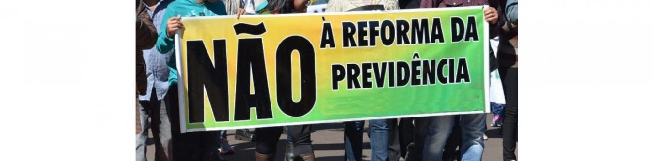 Não à reforma da previdência