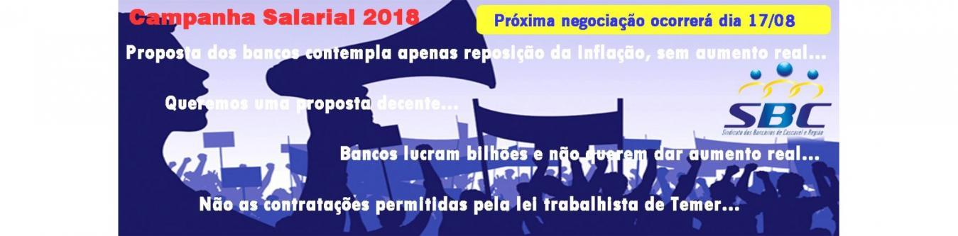 Calendário de negociação - Campanha Salarial 2018/19