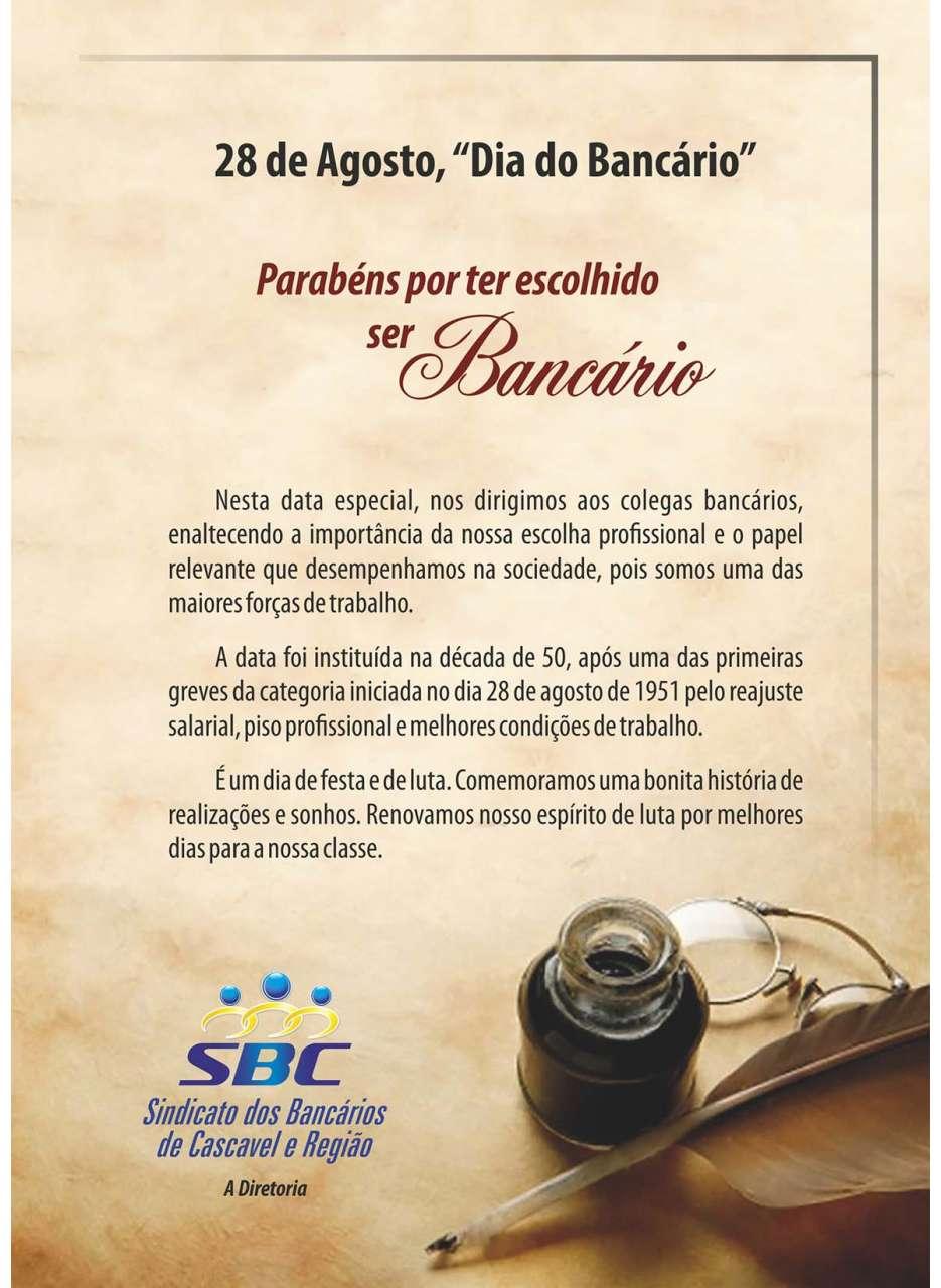 Mensagem Dia do Bancário