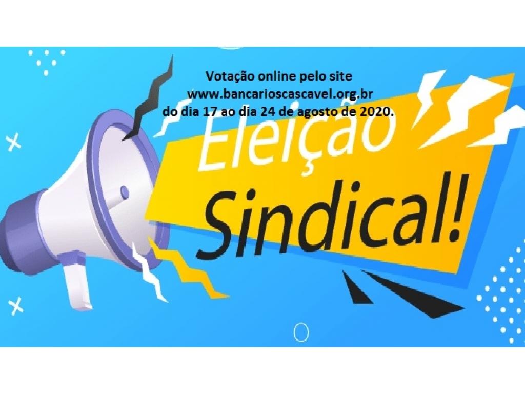 Processo Eleitoral: Chapa única se inscreve à eleição online do Sindicato dos Bancários de Cascavel