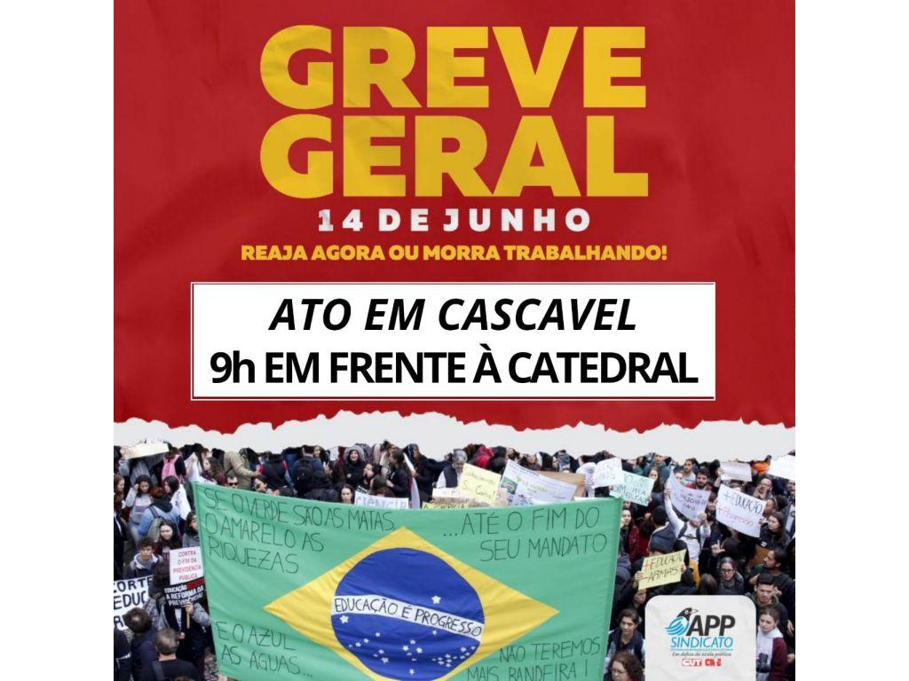 Sindicato dos Bancários participa de eventos da greve geral nesta sexta em Cascavel