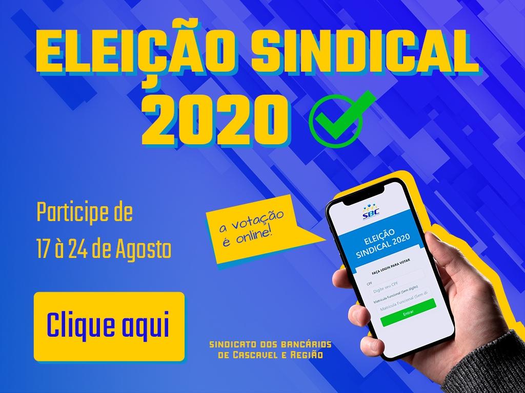 Eleição online do Sindicato vai até 24 de agosto. Saiba como votar