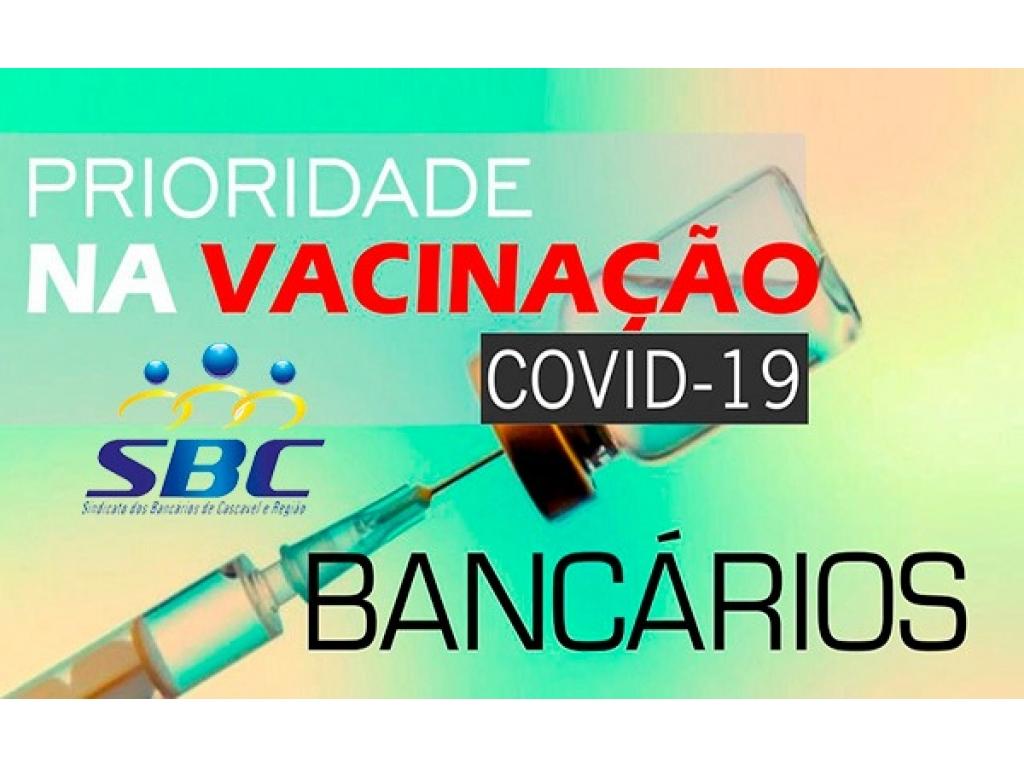 Sindicato de Cascavel pede ao município a inclusão de bancários na vacinação contra covid
